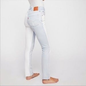 Levi's Jeans - NWT Levi's 501 Color Block Two Tone  Skinny Jeans